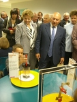 "Moscow Mayor Yury Luzhkov opens ""School of the Future"""