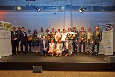 Preisträger, Jury, Moderatoren und die Partner des Deutschen Weingutpreises 2018 / © Hochschule Geisenheim/Winfried Schönbach