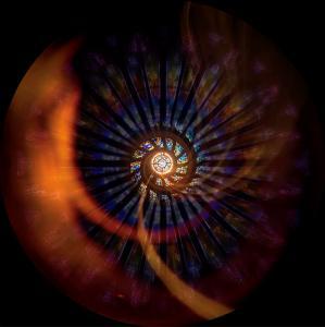 Kosmische, runde Bilder: Foto: Labor für Immersive Medien
