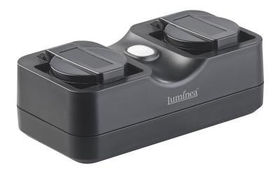 Luminea Home Control Outdoor-WLAN-2-fach-Steckdose SF-620.avs komp. zu Amazon Alexa & Google Assistant