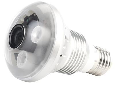 OctaCam LED-Lampe, 3W, E27 mit integrierter HD-Kamera und IR-LEDs