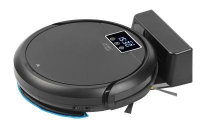 Sichler Haushaltsgeräte Staubsauger-Roboter PCR-3000 mit Wischfunktion, 2in1-Staubbehälter, WLAN & App (Copyright PEARL.GmbH)