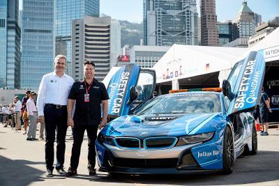 Jens Marquardt, Michael Andretti, Qualcomm BMW i8 Safety Car, Hongkong