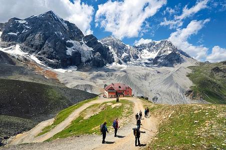 Italien, auf dem Weg zur Schaubachhütte