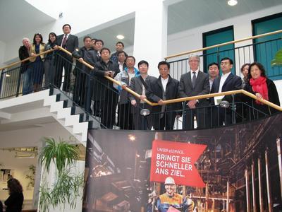 Chinesische Arbeitsmarktexperten bewundern das BiZ
