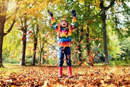 Blätterspaß im Herbst. Quelle: IStock Brian A Jackson