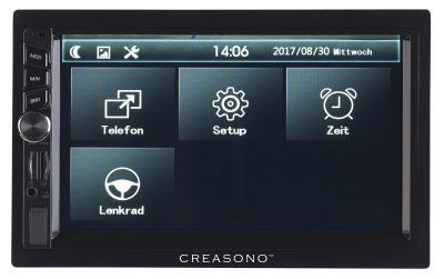 PX 2336 07 Creasono 2 DIN MP3 Autoradio mit Touchdisplay. Bluetooth und Freisprecher
