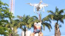 Literaturverteilung per Drohne © Foto: Joseph Redfield/SAD