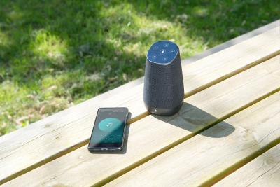 auvisio WLAN-Multiroom-Lautsprecher mit Alexa Voice Service und Akku, 30 Watt