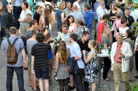 Die Bauausstellung zu Ende des Sommersemesters 2014 (Foto: Pressestelle FH Lübeck)