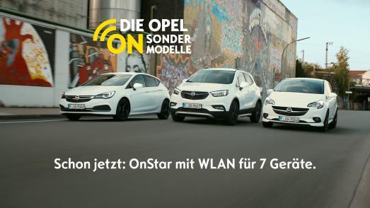 Überragend vernetzt: Die neuen Opel-Sondermodelle Astra ON, Mokka X ON und Corsa ON bieten Opel OnStar, IntelliLink-Infotainment und Top-Komfort serienmäßig