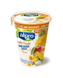 Soja-Joghurtalternativen mit mehr Frucht und ohne Zuckerzusatz Mango