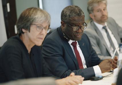 Dr. Denis Mukwege mit Difäm-Direktorin Dr. Gisela Schneider