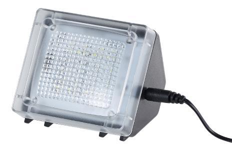 VisorTech TV-Simulator zur Einbrecher-Abschreckung, 20 flackernde LEDs, Netzteil