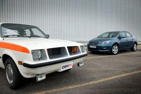 Der OSV 40 und der Opel Astra: Der aktuelle Opel Kompaktklässler erntet die Früchte einer 40-jährigen Entwicklung