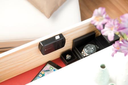 VisorTech Schubladen- & Schranktüren-Schloss mit RFID-Schlüssel, Bluetooth, App