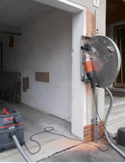 Steinsäge S26 + Wandschiene W60 Garagentor verbreitern