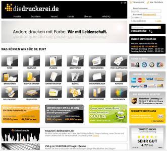 Neues Aussehen, neue Inhalte, neue Produkte: Der neue Onlineshop der www.diedruckerei.de