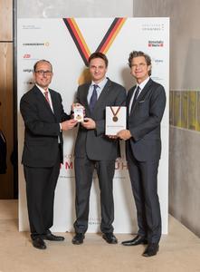 Prof. Dr. Bernd Venohr, Dr. Boris Gehring und Dr. Florian Langenscheidt (v.l.n.r.), Quelle: Deutsche Standards Editionen/pik-atelier