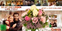 """Blumenstrauß Glücksfee inkl. Gratis Glasvase und der DVD """"So ist das Leben"""" für nur 29,99€"""