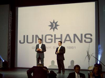 v.l.n.r.Moderator Michael Antwerpes, Junghans Vertriebsleiter Andreas Stark