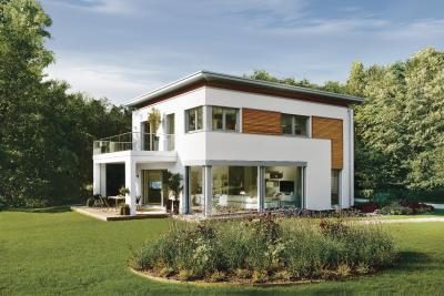 Bei dem Passivhaus in der World of Living kommt auch das Design nicht zu kurz