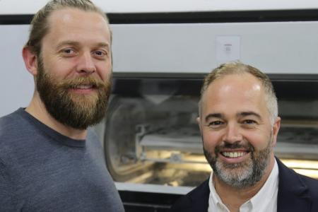 Solopress-Geschäftsführer Andy Smith und Aron Priest (rechts). Copyright: Solopress