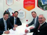 left to right: Benedikt Böhm, CEO DHYBRID; Tobias Reiner, CTO DHYBRID; Thomas Mart, CFO IBC Solar; Udo Möhrstedt, CEO IBC Solar