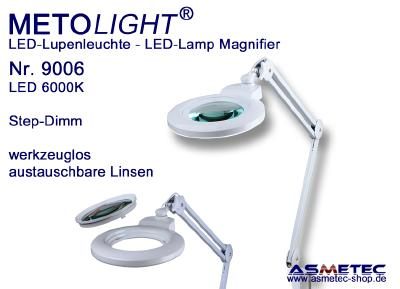 Multi-Linsen-Lupenleuchte - werkzeuglos austauschbare Linsen  - 12 Watt, 60 Premium SMD-LEDs, 1200lm, kratzfeste Glaslinse Ø 127 mm, 3 / 5 / 8 Dioptrien - 12 Watt, 60 Premium SMD-LEDs, 1200lm, kratzfeste Glaslinse Ø 150 mm, 3 / 5 Dioptrien - 16 Watt, 84 Premium SMD-LEDs, 1600lm, kratzfeste Glaslinse Ø 178 mm, 3 / 5 Dioptrien