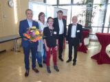 Preisverleihung Journalistenpreis 2019 - vlnr: Preisträger Carlo Schindhelm, Stefanie Mulatsch, Smilla Liebl, Prof. Ingram Schulze-Neick, Hans-Dieter Kulla