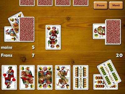 Online spiel mit doppeldeutschen Karten
