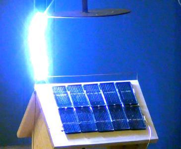 Versuchsaufbau zur Untersuchung: Schadensumfang von Photovoltaikanlagen im Falle von Blitzeinschlägen (Foto:h_da)