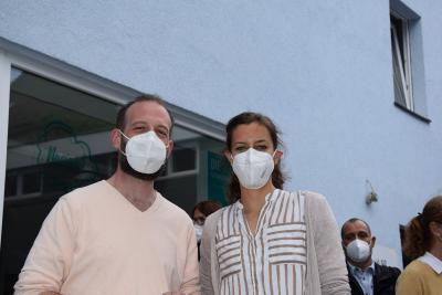 Matthias de Banffy und Vanessa Henning von der Spandauer Freiwilligenagentur, Foto: Benjamin Schneider
