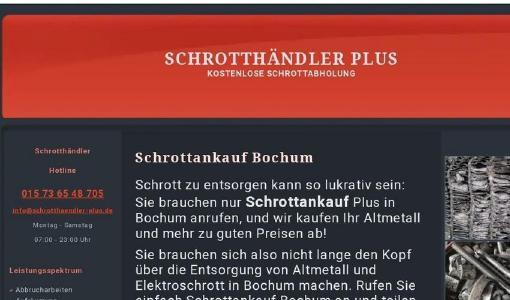 Schrottankaufs Bochum