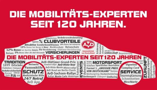 AvD - Die Mobilitäts-Experten. Seit 120 Jahren
