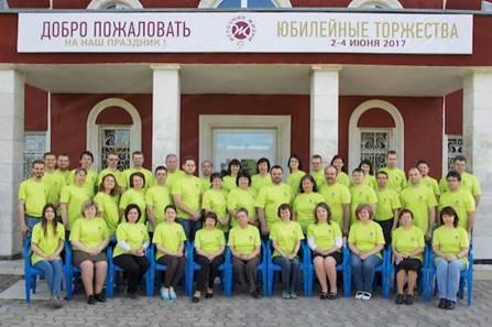 """Mitarbeitende des adventistischen Verlags """"Quelle des Lebens"""" in Zaoksky / © Foto: Euro-Asia Division News"""