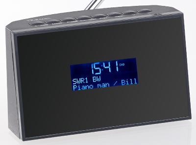 auvisio Digitaler DAB+/FM-Tuner zum Aufrüsten von HiFi-Anlagen DOR-270 mit Radiowecker