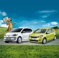 Testwagen VW eco up! und Skoda Citigo
