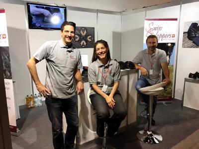 Das Swiss Galoppers Team von r. Armin Eberle, Tanja Eberle  Weixelbaumer und Mirko Weixelbaumer