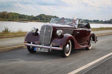 Große Eleganz: Das Opel Super 6 Cabriolet wurde in den Jahren 1937 und 1938 von der Dresdner Karosserieschmiede Gläser hergestellt