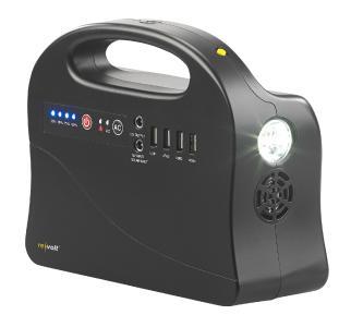revolt Solar-Konverter & Powerbank HSG-260 i, 26,4 Ah / 97 Wh, 12/230 V, USB, 120 Watt
