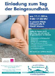 Tag der Beingesundheit am 17. November im Sanitätshaus Heining in Weiden