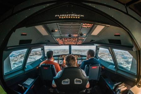 A320-Flugsimulator an der TH Wildau / © TH Wildau/Matthias Friel