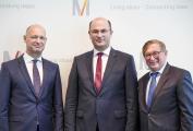 FMG ab kommendem Jahr unter neuer Führung: Designierter Flughafenchef Jost Lammers von Finanzminister Albert Füracker vorgestellt