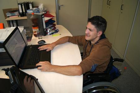 Giuseppe Garripoli an seinem Arbeitsplatz