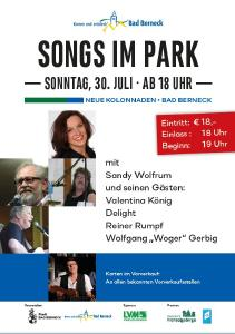 Plakat Songs im Park