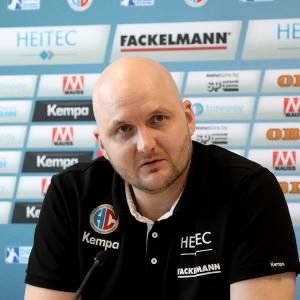 """HC Erlangen-Trainer Eyjolfsson """"Da brauchen wir auch die Fans in der Arena"""" (Foto: HJKrieg, Erlangen)"""