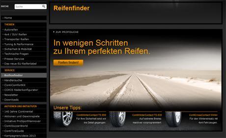 Neuer Reifenfinder von Continental ist online: In fünf Schritten zum richtigen Pneu
