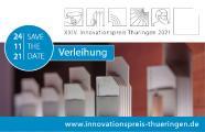 Save the Date: 24.11.2021 - Verleihung XXIV. Innovationspreis Thüringen 2021