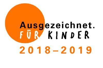 Logo Ausgezeichnet. FÜR KINDER 2018-2019